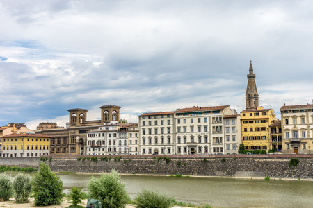 Florence, Italy - 25 June 2018: The plaza hotel Lucchesi in Florence near the arno River, Italy Stock Photo