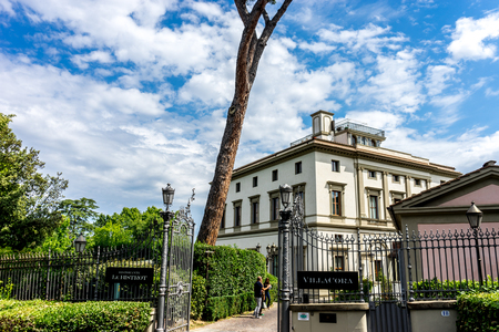 Florence, Italy - 25 June 2018: The Villa Cora at Florence, Italy Editorial