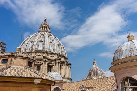 The dome of Saint Peters basilica at Vatican City