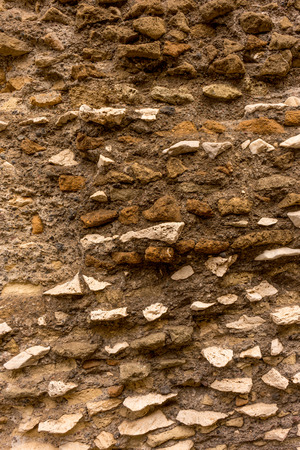 mud and brick mortar wall