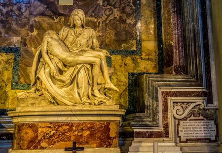 Vatican City, Italy - 23 June 2018: La Pieta (