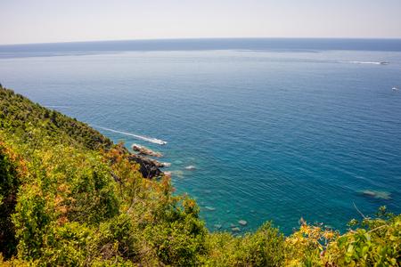 a large body of water, Corniglia, Cinque Terre, Italy, Europe