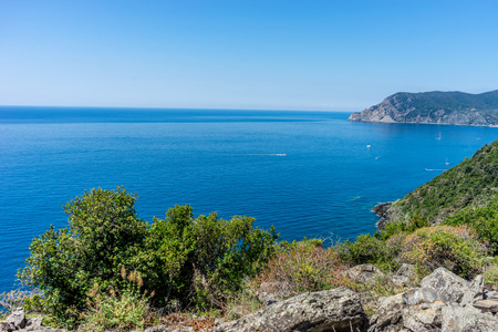 an island in the middle of a body of water, Corniglia, Cinque Terre, Italy, Europe