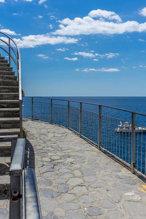 The pier of Manarola, Cinque Terre, Italy 写真素材