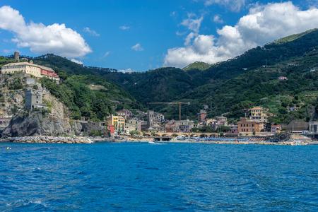 Townscape and cityscape view at Monterosso al mare