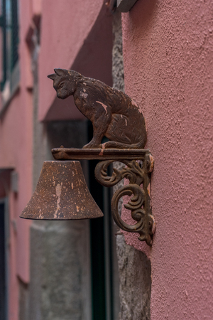 Italy, Cinque Terre, Vernazza, an ancient door bell