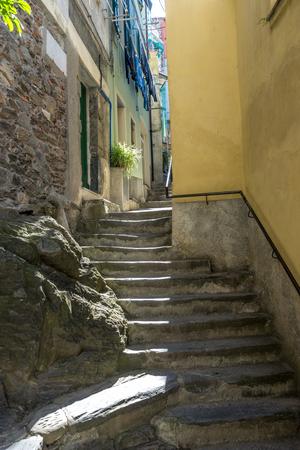 Italy, Cinque Terre, Vernazza, a narrow street