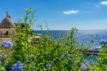 Europe, Italy, Cinque Terre, Vernazza, a close up of a flower garden in front of a building