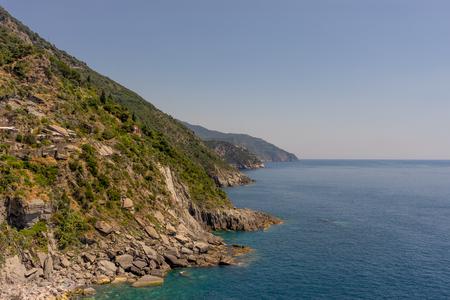 Scenic view of sea against clear sky, Vernazza, Cinque Terre, Europe, Italy, Cinque Terre, Фото со стока