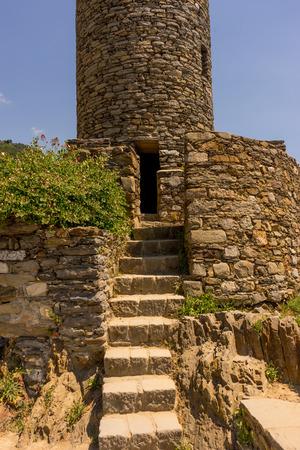 the al castello Doria progetto Luguria Heritage Monument, Cinque Terre, Italy Stockfoto