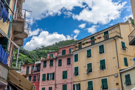 The townscape and cityscape of Vernazza, Cinque Terre, Italy