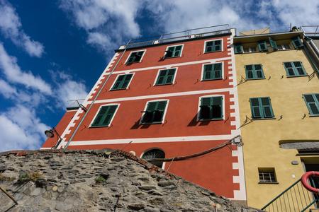 The cityscape of Riomaggiore