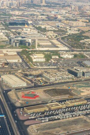 Dubai Emirates Desert, a large city landscape
