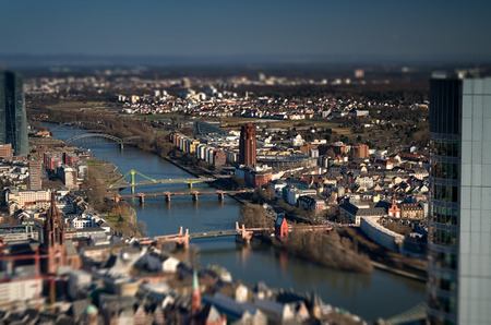 tilt: City view with tilt shift
