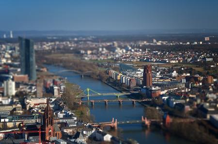 tilt view: Tilt shift Frankfurt view