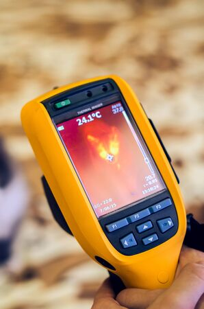 thermography: Thermal imaging of cat using camera