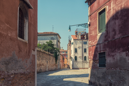 venecian: Old lamp on the venecian streets