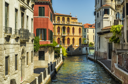 canal street: Lovely typical street with canal of Venice, Italy