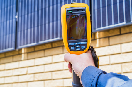 thermogram: Thermal inspection of Vacuum solar water heating system With Thermal Camera