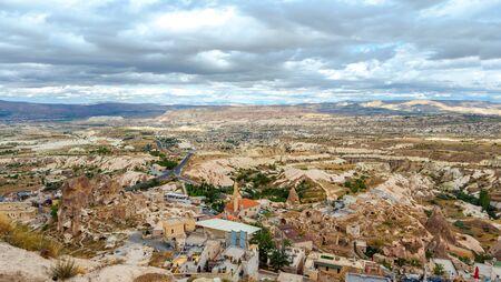 Rock formations in Pigeon Valley of Cappadocia , Turkey 写真素材
