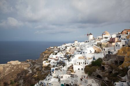 A romantic trip on a Greek volcanic island, the blue and white of Santorini. Incredible Aegean sea with fantastic sunsets and architecture.Unique Greek style and architecture on the volcanic island of Santorini in the Aegean sea.