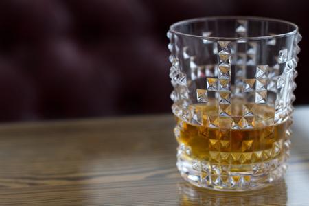 Wiskey in glass.