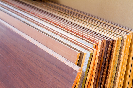 MDF, PARTICLE BOARD. Wood panels of different thicknesses and colors.