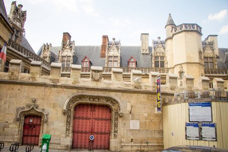 Paris, France - July 7, 2018: View of the Musee de Cluny a landmark national museum of medieval arts and Middle Ages history located in the fifth arrondissement of Paris