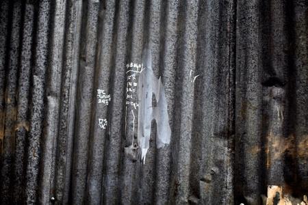 grunge: Grunge zinc metal tin fence