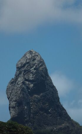 Finger Rock, geological feature in Noronha Island Imagens