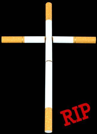 habitual: Smokers burial cross Stock Photo