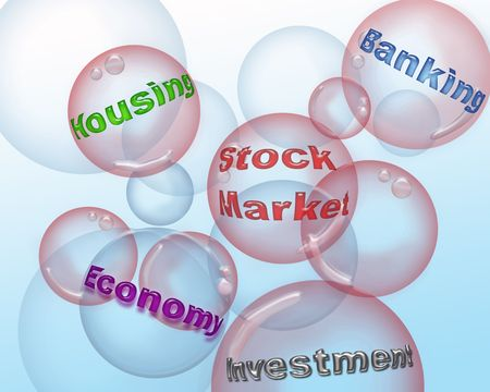 global retirement: Illustration af a market bubble