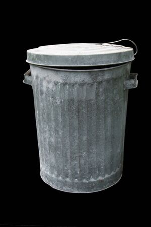 Trash Can isolated over a black background