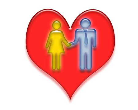 Illustration of valentines couple Stock Photo