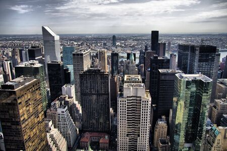A view of New Yorks Manhattan skyline photo