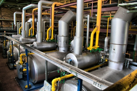 industriale: Una vista di un locale caldaie industriali