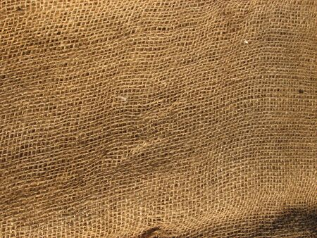 sackcloth: A view of burlap fabric background and texture