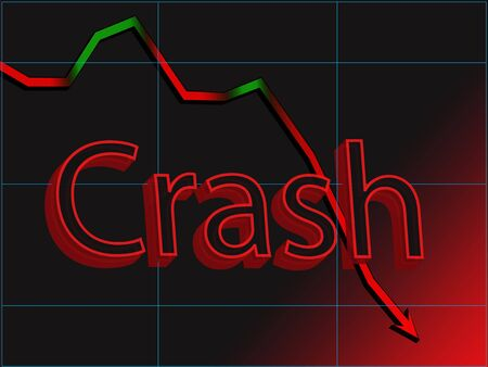 global retirement: Abstract image of stock chart market crash Stock Photo