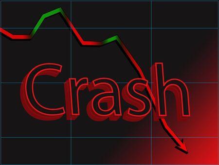 R�sum� de l'image graphique du march� stock crash Banque d'images