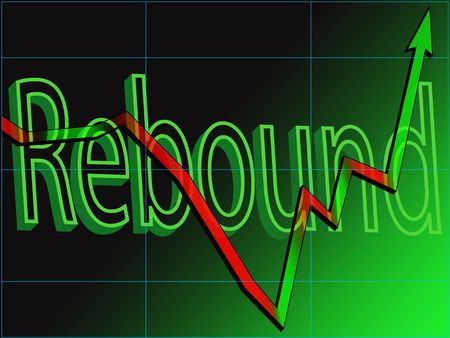 Abstract view of a stock market chart rebound