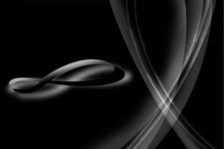 Infinity symbol on black and white lighting Stock Photo - 4020114