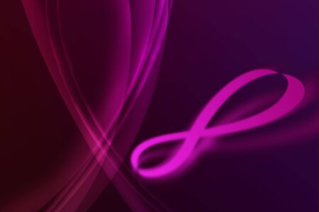 Abstract infinity on violet lighting