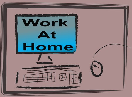 Abstract work at home impression  Stock Photo