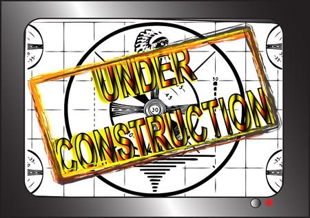 site: Site Under Construction TV Test Pattern.  Stock Photo