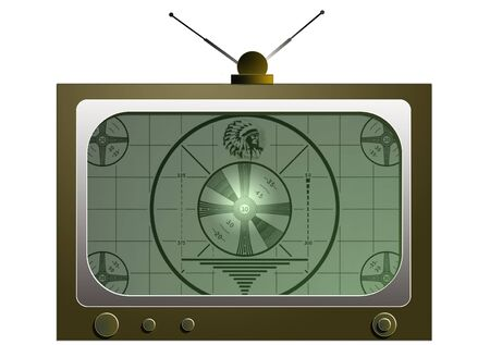 Illustration of an old tv set  Stock Photo
