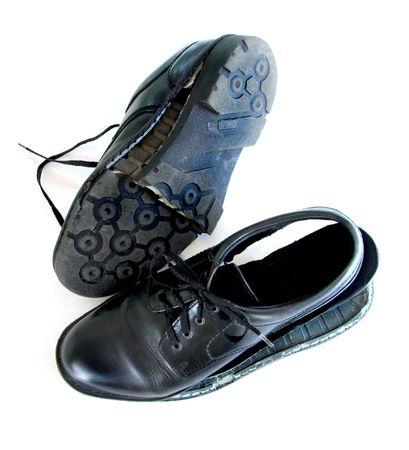 Hommes us� de chaussures de robe Banque d'images