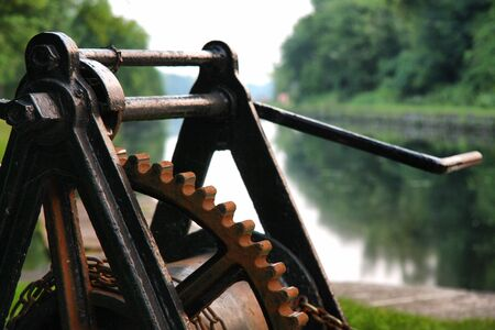 Lockmasters control on Rideau canal, Ontario