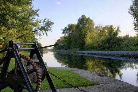 Canal Rideau et des �cluses, Ontario, Canada. Banque d'images