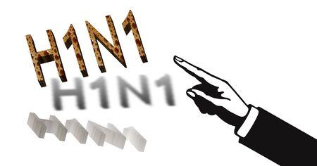 swine flue: Conceptual H1N1 Flue illustration