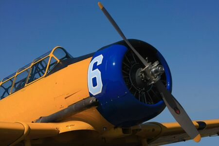 World War II era Harvard airplane